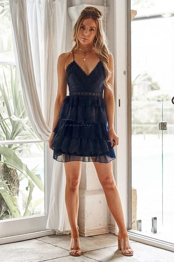 SHELBY DRESS - NAVY