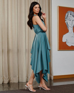 KAT DRESS- TEAL
