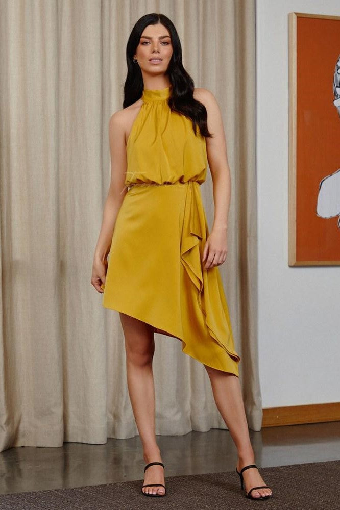 SIEANNA DRESS - MUSTARD
