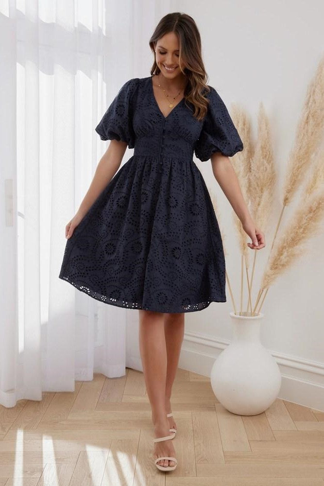 MILANI DRESS - NAVY