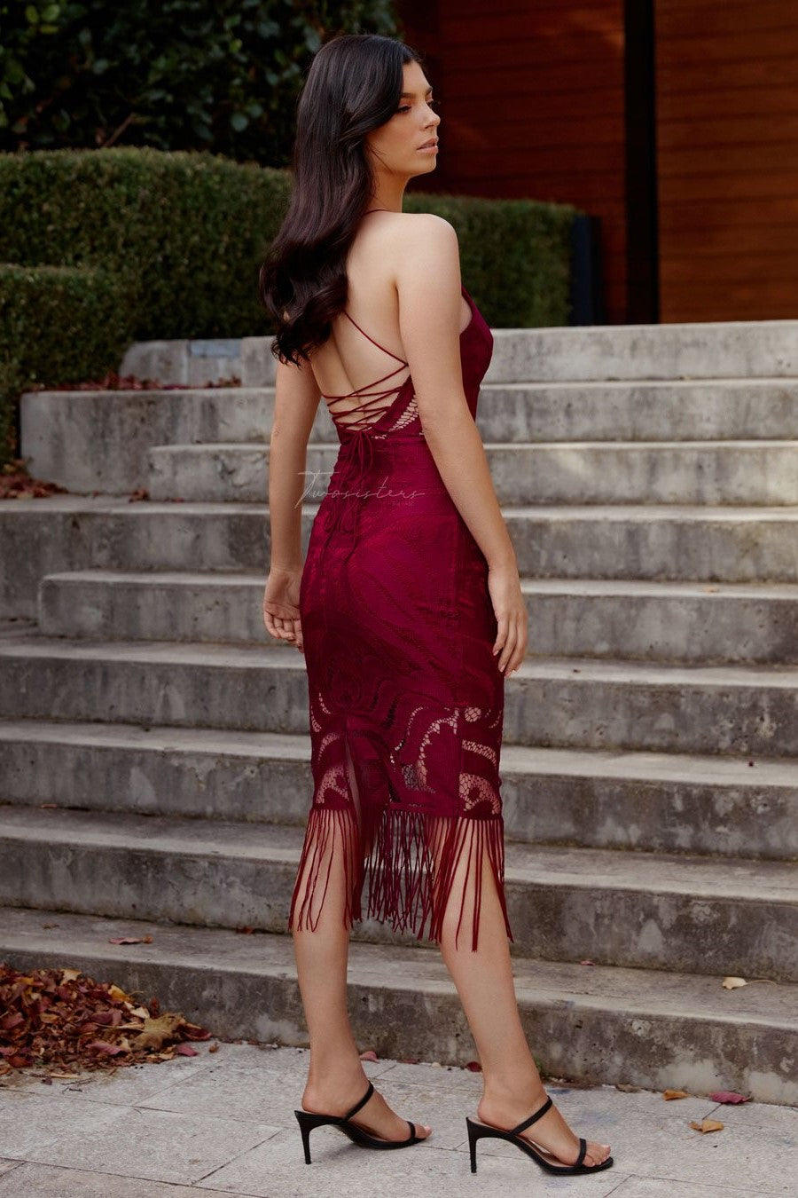 KHALEESI DRESS - BURGUNDY