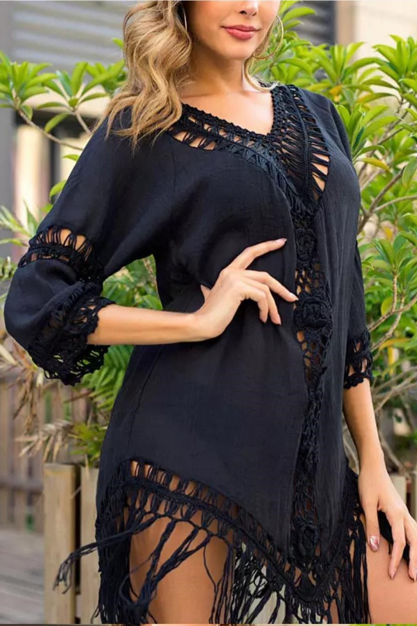 SUNDRESS COVER UP - BLACK