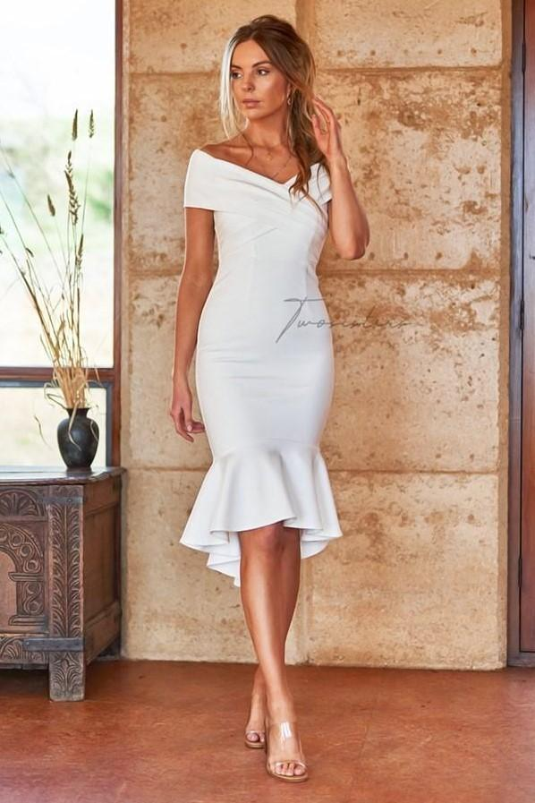 BRIENNE DRESS - WHITE (PREORDER)