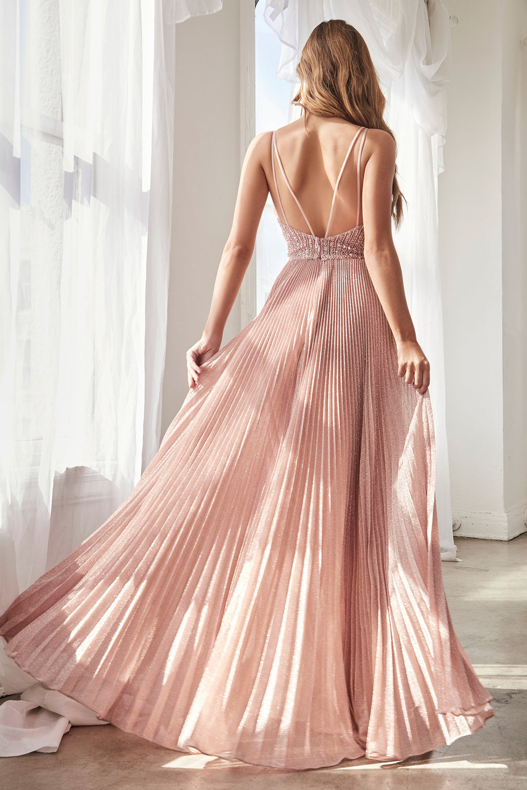 ELLIE GOWN - DUSTY ROSE | CD0162