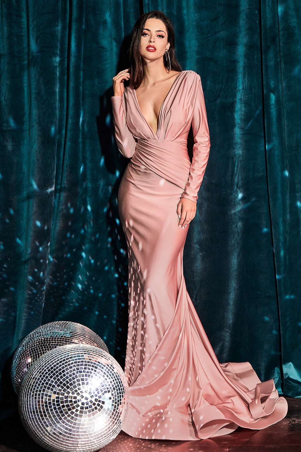 JERSEY GOWN - DUSTY ROSE | CD0168