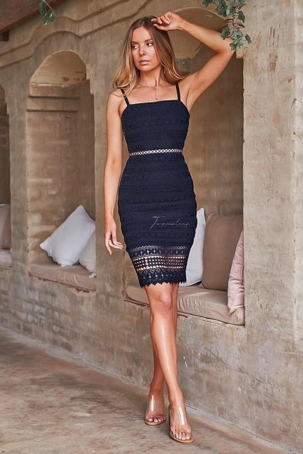 ERIN DRESS - NAVY