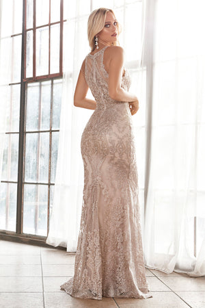ANGELIQUE GOWN - CHAMPAGNE/GOLD