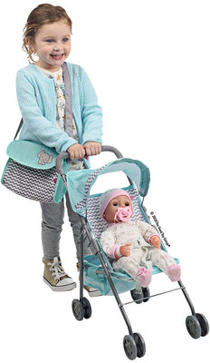Adora Zig-Zag Medium Umbrella Doll Stroller