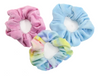 Pastel Tie Dye Fleece Scrunchies