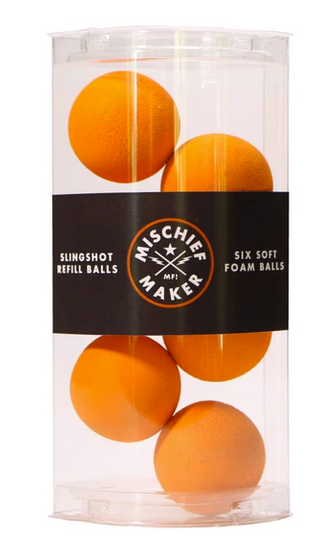 Orange Foam Slingshot Balls