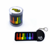 Micro Rainbow Piano Key Chain