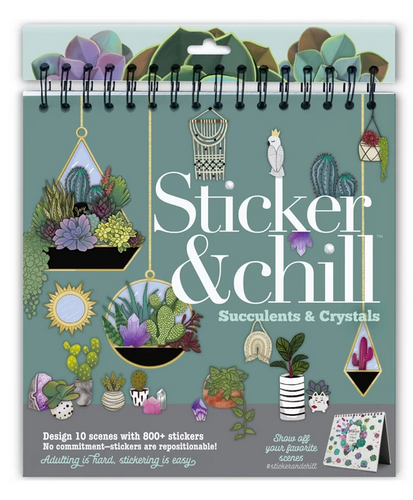 Sticker & Chill Succulents & Crystals