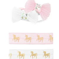 Pink Unicorn Hair Ties and Bows