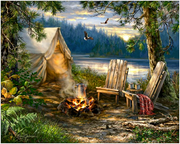 Evening at the Lake 500 Pc Puzzle