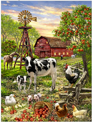 Barnyard Animals 500 Pc Puzzle