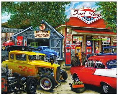 Hot Rod Cafe 1000 Pc Puzzle