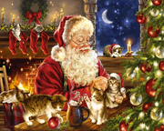 Christmas Kittens 1000 Pc Puzzle