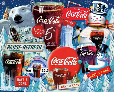 Coca-Cola Ice Cold Christmas 1000 Pc Puzzle