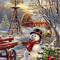 Winter Windmill 500 Pc Puzzle
