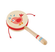 Twittering Bird Drum-Shaped Rattle