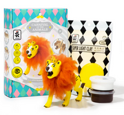 Wooden Puzzle and Clay Kit: Roaring Lion