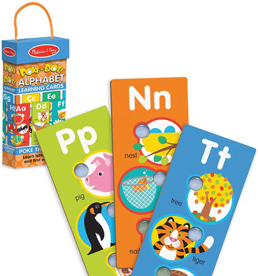 Poke-a-dot Alphabet Learning Cards