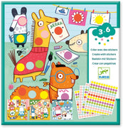 Create with Colored Dots Animal Stickers
