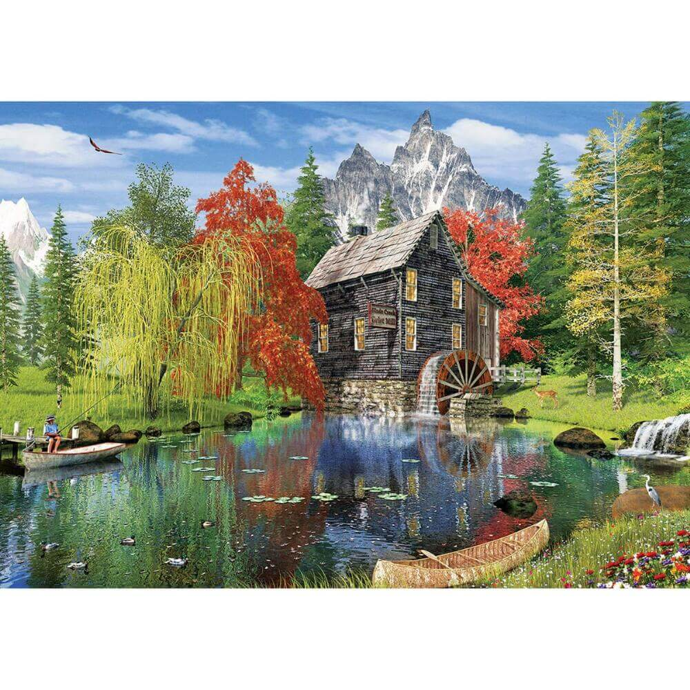 Fishing by the Mill 1500 Pc Puzzle