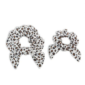 Mommy + Me Leopard Print Scrunchies