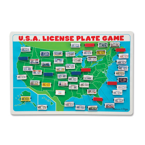 USA License Plate Travel Game