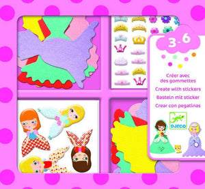 Create With Stickers I Love Princesses
