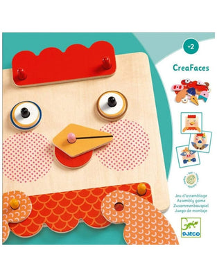 Creafaces Make-a-Face Wooden Board