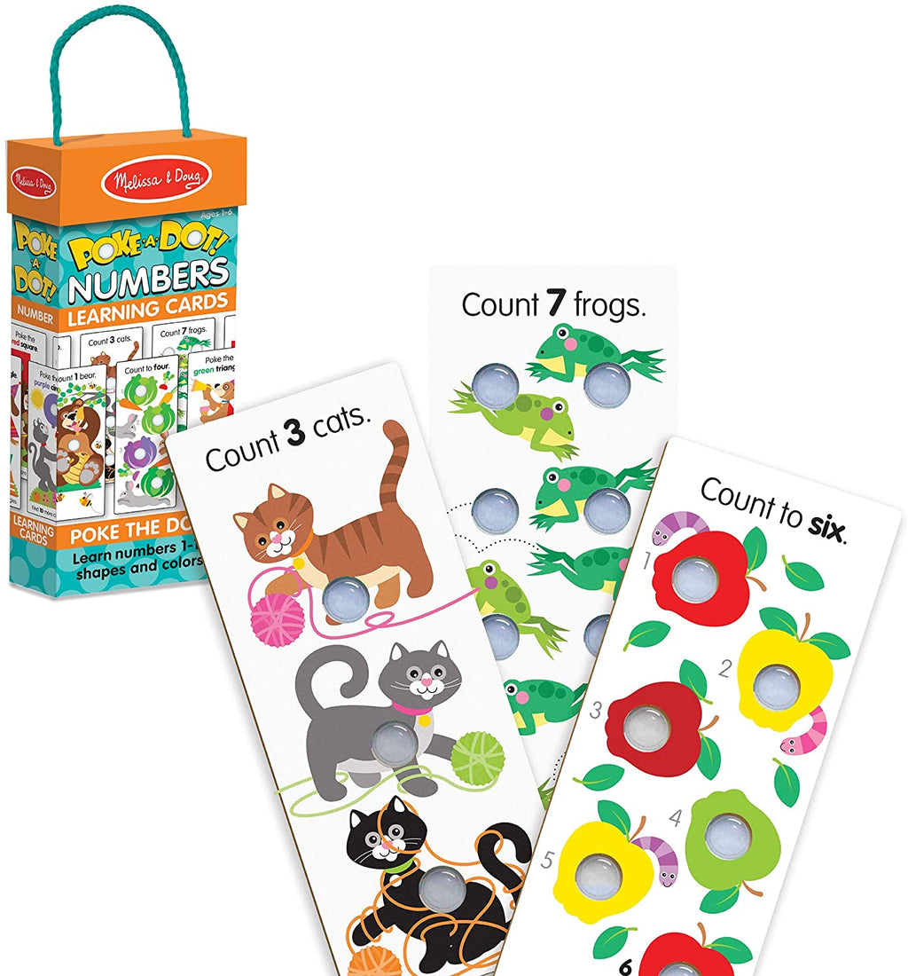 Poke-a-dot Number Learning Cards