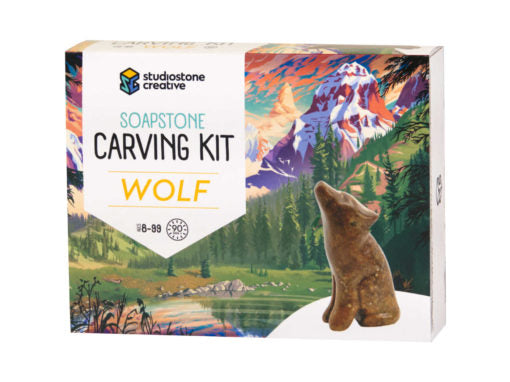 Soapstone Wolf Carving Kit