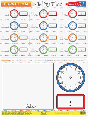 Learning Mat Telling Time