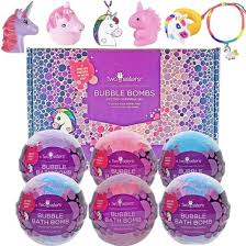 Unicorn Bubble Bath Bomb Set