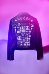 Women's Louise Lockhart Printed Leather Jacket
