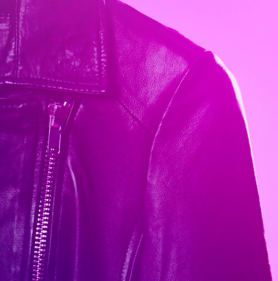 CROM X Shores - Women's Leather Biker Limited Print Run