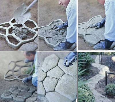 Flagstone Paving Mould - Easy Path & Patio Building Tool (Big Size)