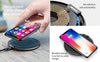 Thin QI Leather Wireless Charging Pad