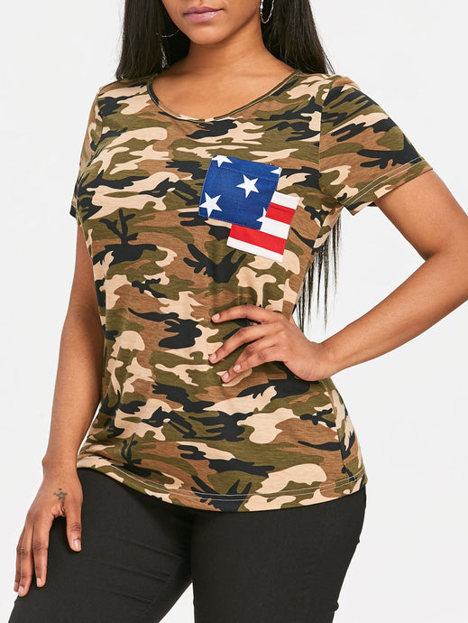 Patriotic Camo Pocket T-shirt - 64 Corp