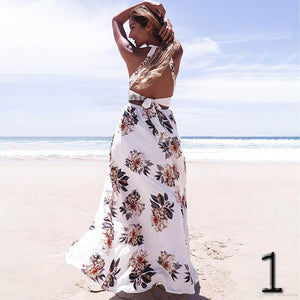 Maxi Long Summer Print Beach Dress - 64 Corp