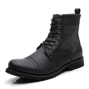 Cowboy Style High Quality Lace-Up Boots - 64 Corp