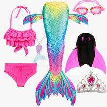 NEW Arrival! Fancy Mermaid tails with/No Fins Monofin Flipper mermaid swimming tails for Kids Girls Summer Beach Wear Swimsuits
