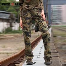 Free Army Brand Women's Camouflage Pants Pockets Cotton Casual Loose Full Length Cargo Women Pants Winter Outer Wear GK-918 - 64 Corp