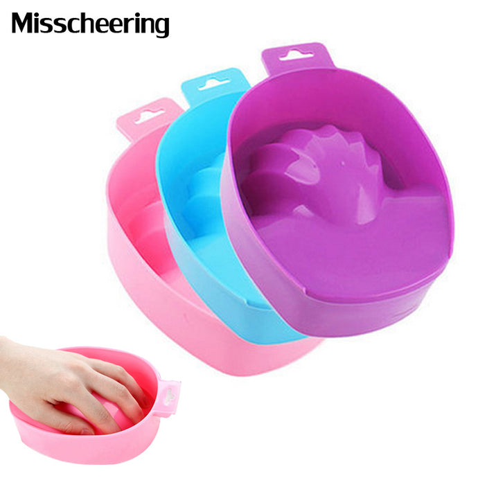 1pcs Nail Art Hand Wash Remover Soak Bowl DIY Salon Nail Spa Bath Treatment Manicure Tools - 64 Corp