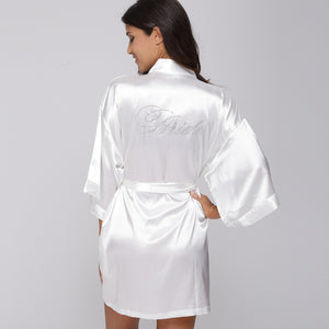Satin Wedding Kimono Robes - 64 Corp