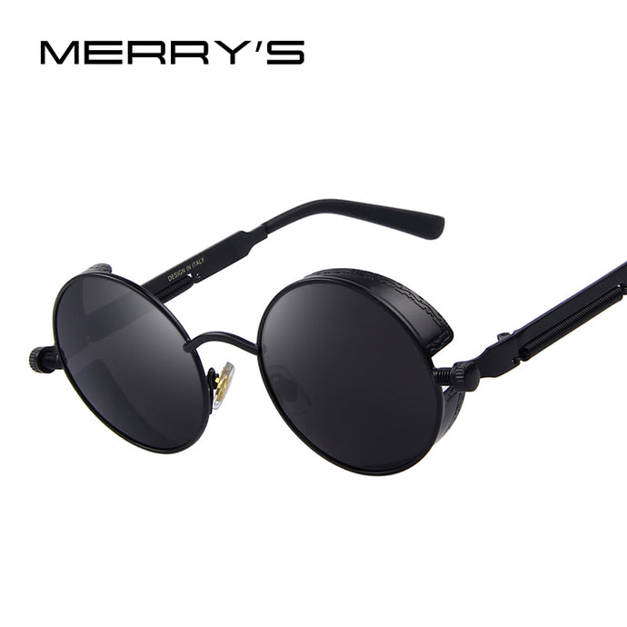 MERRY'S Vintage Women Steampunk Sunglasses Brand Design Round Sunglasses Oculos de sol UV400 - 64 Corp
