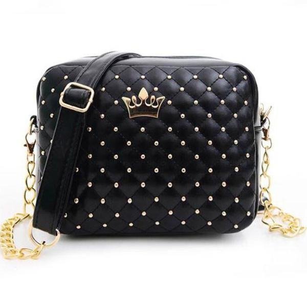 Rivet Chain Shoulder Bag - 64 Corp