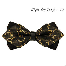 20 style summer men's neckwear neck self gold bow tie silver black silk fashion casual male pink bowtie wedding lote - 64 Corp